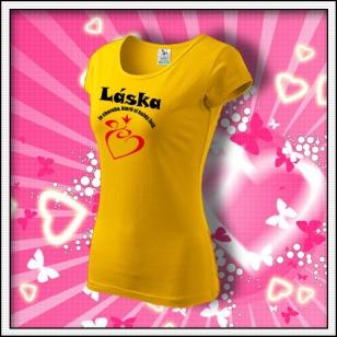 Láska je choroba - dámske žlté