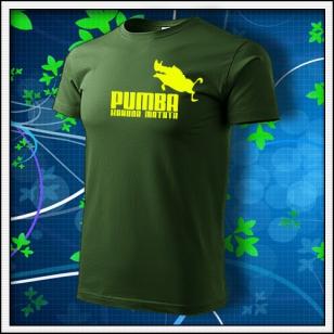Pumba - fľaškovozelené