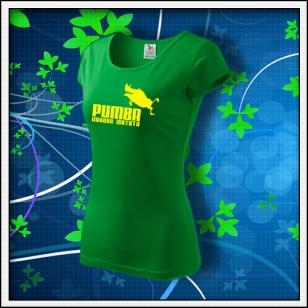 Pumba - dámske trávovozelené