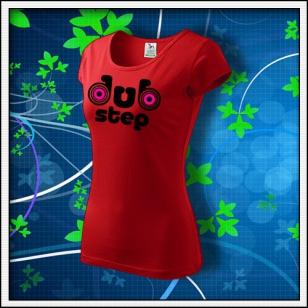 Dubstep 1 - dámske červené s neónovými kruhmi