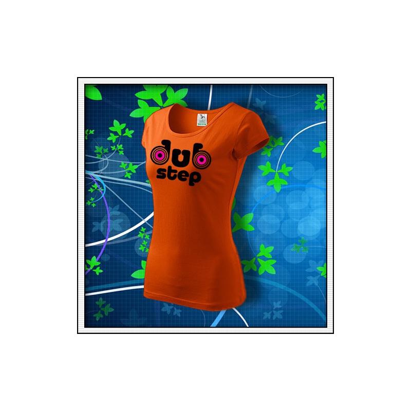 Dubstep 1 - dámske oranžové s neónovými kruhmi