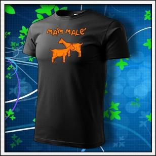 Mám malé kozy - unisex s oranžovou neónovou potlačou