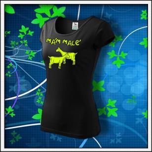 Mám malé kozy - dámske tričko so žltou neónovou potlačou