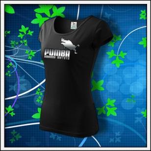 Pumba - dámske tričko reflexná potlač