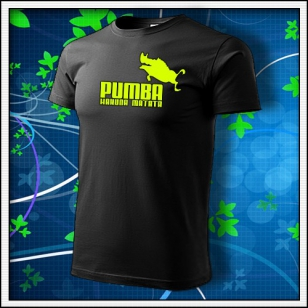 Pumba - unisex so žltou neónovou potlačou