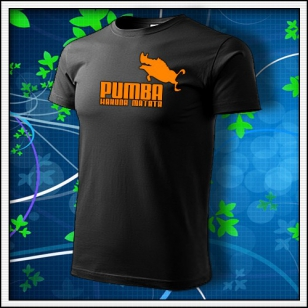 Pumba - unisex s oranžovou neónovou potlačou