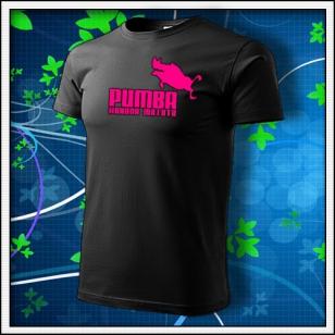 Pumba - unisex s ružovou neónovou potlačou