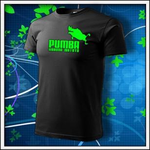 Pumba - unisex so zelenou neónovou potlačou