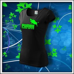 Pumba - dámske tričko so zelenou neónovou potlačou