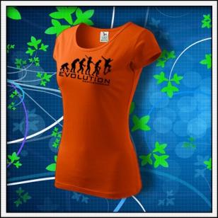 Evolution Skateboarding - dámske oranžové