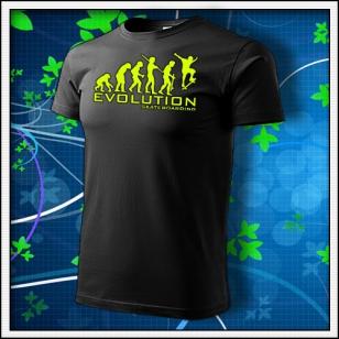 Evolution Skateboarding - unisex so žltou neónovou potlačou