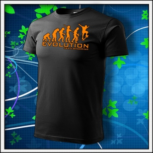 Evolution Skateboarding - unisex s oranžovou neónovou potlačou