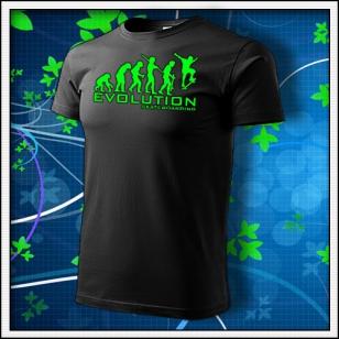 Evolution Skateboarding - unisex so zelenou neónovou potlačou