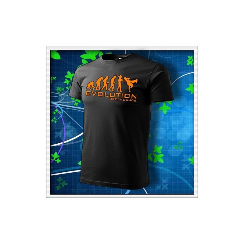 Evolution Breakdance - unisex s oranžovou neónovou potlačou