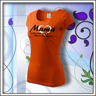 Mama 01 - oranžové