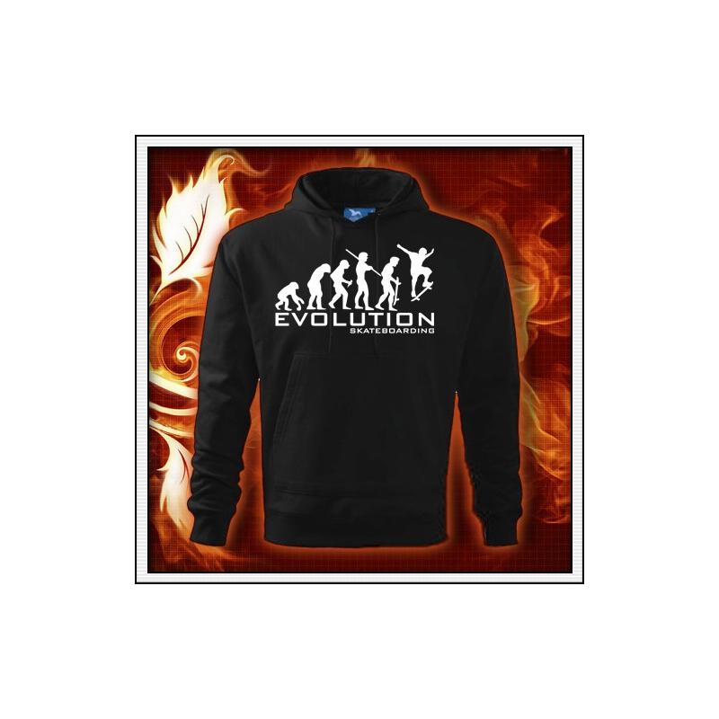 Evolution Skateboarding - čierna mikina