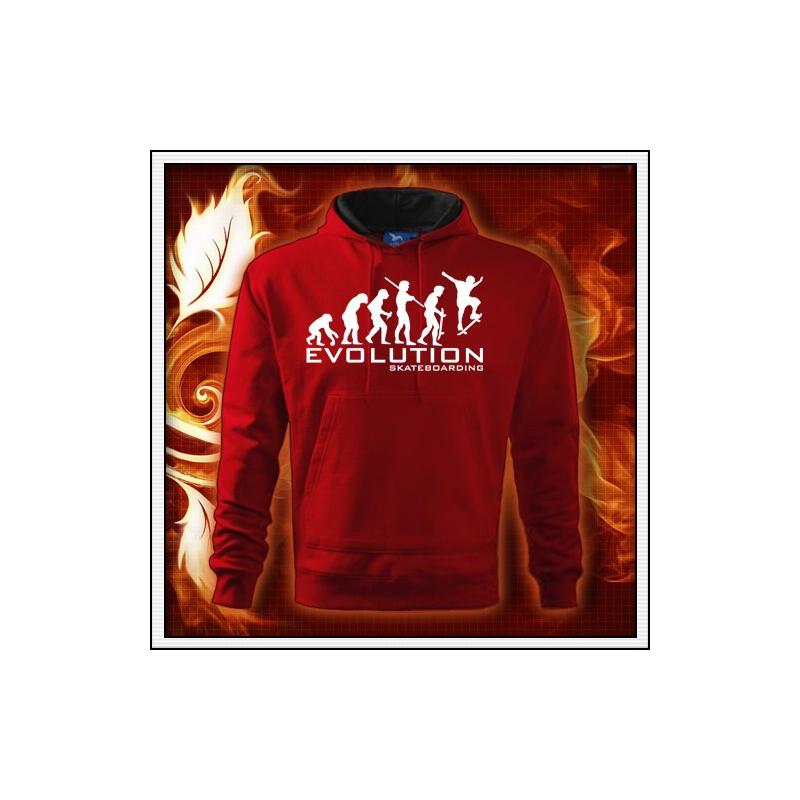 Evolution Skateboarding - červená mikina