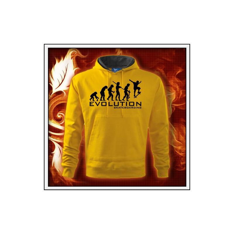 Evolution Skateboarding - žltá mikina