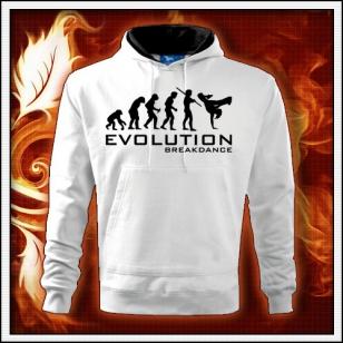 Evolution Breakdance - biela mikina