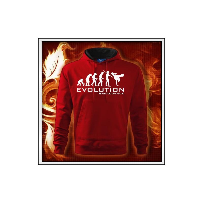 Evolution Breakdance - červená mikina