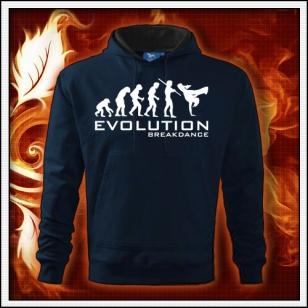 Evolution Breakdance - tmavomodrá mikina
