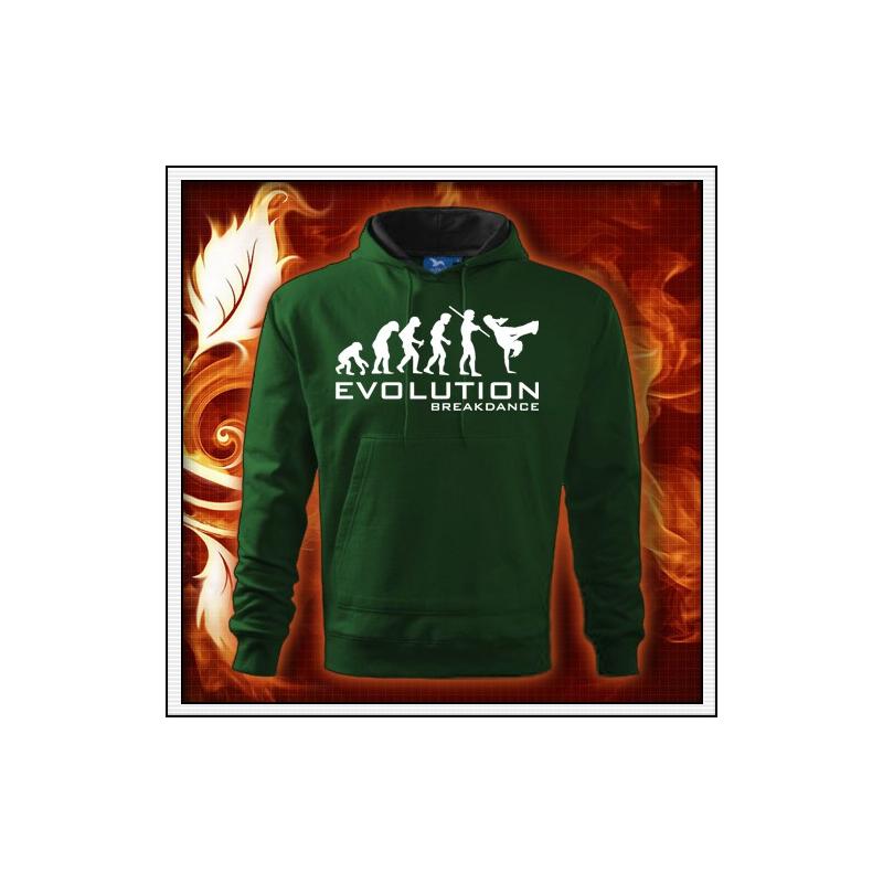 Evolution Breakdance - fľaškovozelená mikina