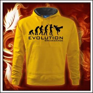 Evolution Breakdance - žltá mikina
