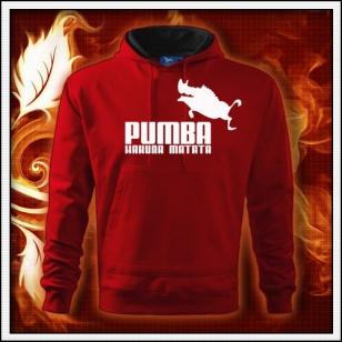 Pumba - červená mikina