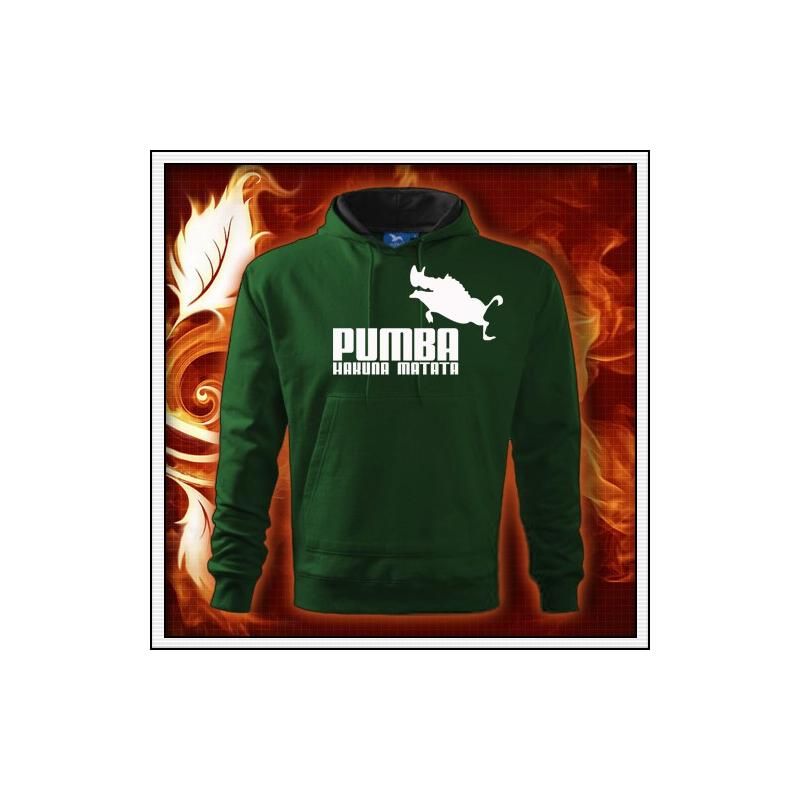 Pumba - fľaškkovozelená mikina