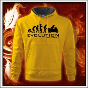 Evolution Motorbike - žltá mikina