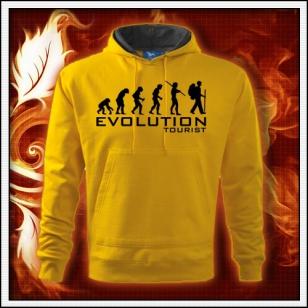 Evolution Tourist - žltá mikina