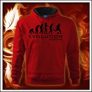 Evolution Soccer - červená mikina