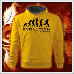 Evolution Soccer - žltá mikina