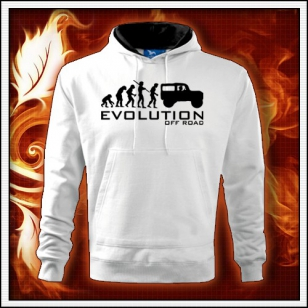 Evolution Off Road - biela mikina