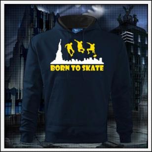Born to Skate - tmavomodrá mikina