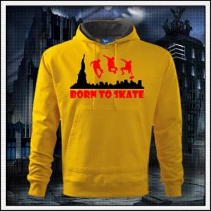 Born to Skate - žltá mikina