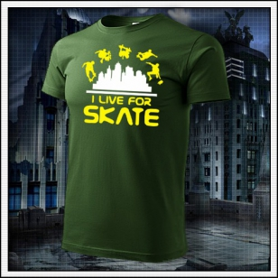 I Live For Skate - fľaškovozelené