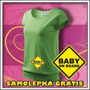 Baby on Board - hráškovozelené + SAMOLEPKA