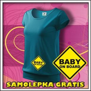 Baby on Board - tmavé tyrkysové + SAMOLEPKA