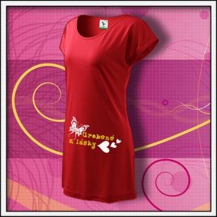 Urobené z lásky - červené tričko / šaty