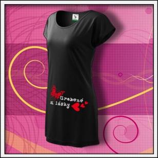 Urobené z lásky - čierne tričko / šaty