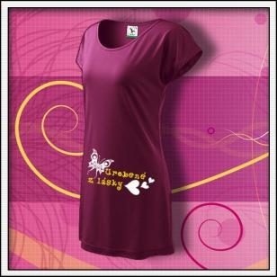 Urobené z lásky - fuchsiové tričko / šaty