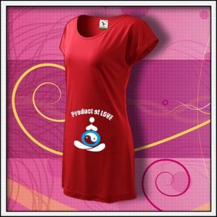 Product of Love - červené tričko / šaty