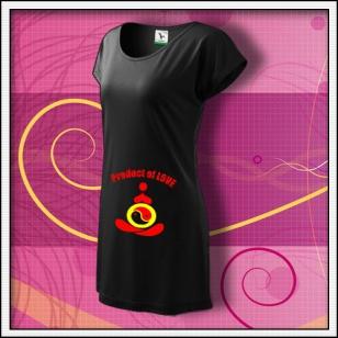 Product of Love - čierne tričko / šaty