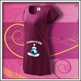 Product of Love - fuchsiové tričko / šaty