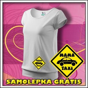 Mama Taxi - biele + SAMOLEPKA