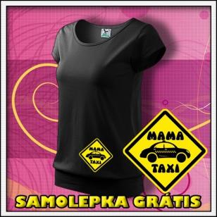 Mama Taxi - čierne + SAMOLEPKA