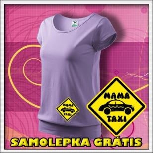 Mama Taxi - levanduľové + SAMOLEPKA