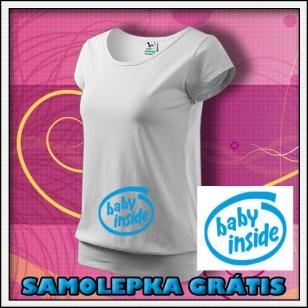 Baby Inside - biele + SAMOLEPKA