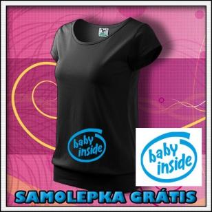 Baby Inside - čierne + SAMOLEPKA